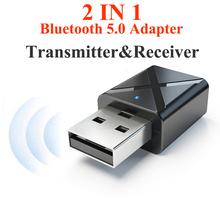 Bluetooth 5.0 Audio Transmitter Receiver Mini 3.5mm AUX Stereo Bluetooth Transmitter for TV PC Wireless Adapter for Car with RCA