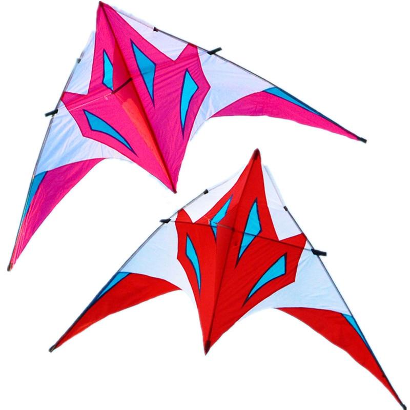 Free Shipping Fox Large Delta Kites Tails Weifang Kite Windsocks Factory Resin Rod Ripstop Nylon Kites Eagle Kite Handle Line