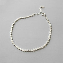 Flyleaf 925 Sterling Silver Anklets For Women Absorbing Flat Beads Fashion Personality Ankle Leg Fine Jewelry Enkelbandje(China)
