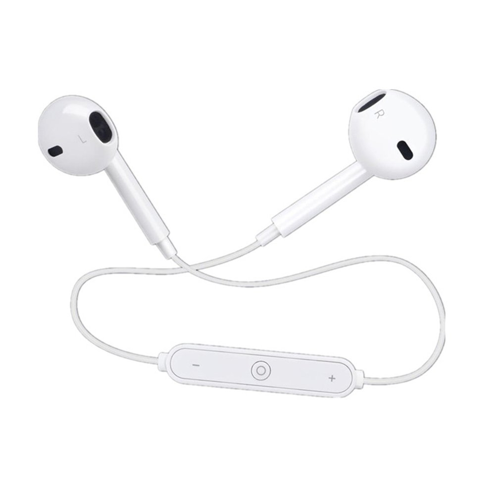 S6 Wireless Bluetooth Earphone Sports Bluetooth V4.1 Earphone Mini Dual Stereo In Ear Speaker-Hand free Mic Earphone