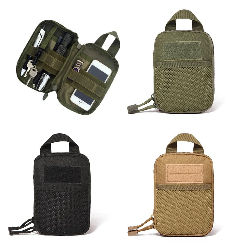 600D Nylon Tactical Bag Outdoor Molle Military Waist Fanny Pack Mobile Phone Pouch Belt Waist Bag EDC Gear Bag Gadget Purses