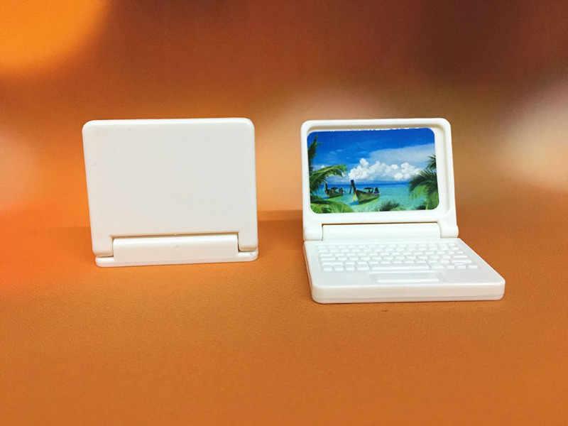 لون عشوائي الإبداعية هدية دمية مصغرة أثاث الكمبيوتر الحديثة لأثاث ألعاب أطفال للدمى الكمبيوتر المحمول