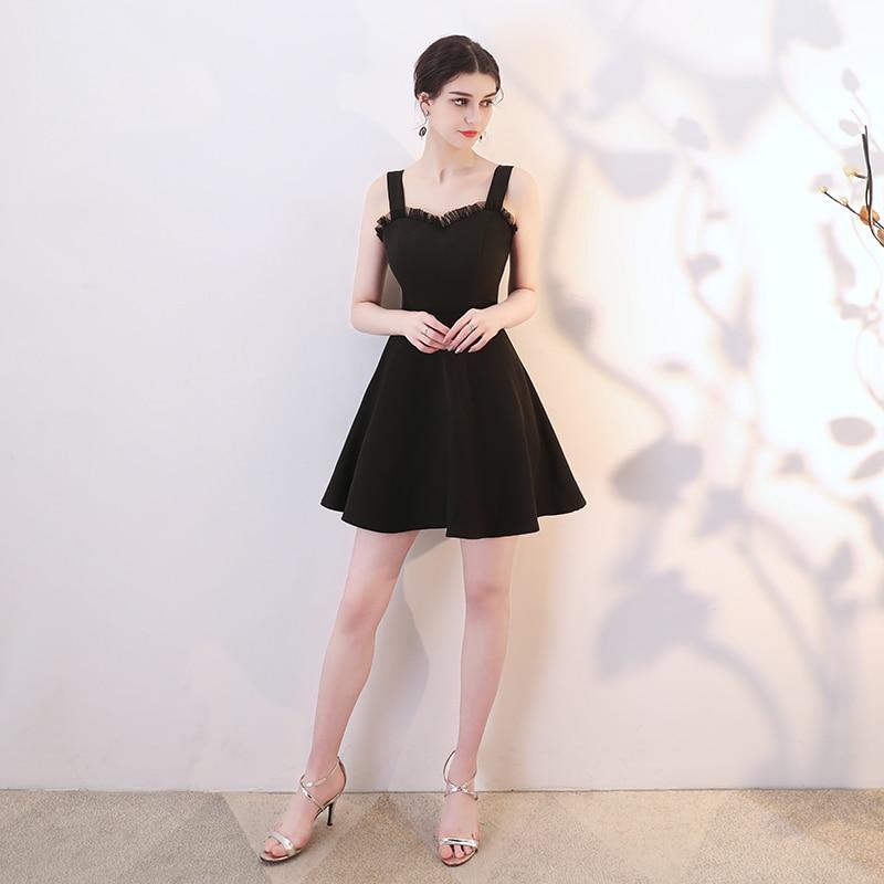 Formal dress sling dress 2019 new ladies party dress birthday party dress Hepburn small black dress banquet dress