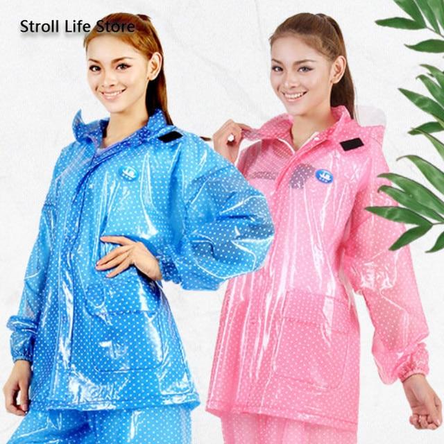 Motorcycle Raincoat Suit Waterproof Rain Coat Women Transparent Electric Riding Car Battery Pink Plastic Suit Capa De Chuva Gift