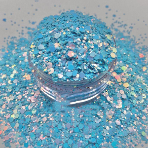 SKYE || Soft Sky Blue Iridescent Nail ARt Glitter 50G Opal Holographic Glitter 12 Colors Color Shift Chunky Mix Glitter,HHGtgr5