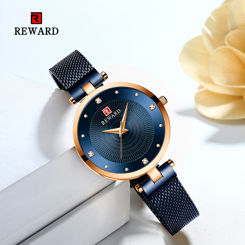 Image 2 - 2019 REWARD Watch Women Luxury Fashion Casual Waterproof Quartz Watches Sport Clock Ladies Elegant Wrist watch Girl Montre Femme-in Women's Watches from Watches