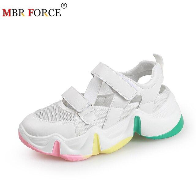 MBR FORCE nouveau été femmes sandales 2020 multicolore semelle dames chaussures décontracté plate-forme chaussures confortable loisirs femmes sandale