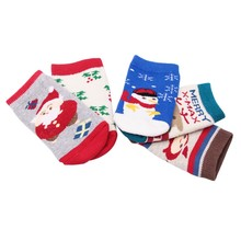Winter Spring Baby Kids Cute Christmas Cartoon Socks Newborn Infant Toddler Soft Cotton Sock Comfortable Ankle Socks For 0-1Y christmas gift baby sock winter warm baby girl socks cartoon christmas elk cute socks 3pairs toddler knee high socks