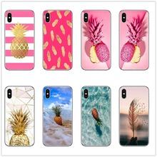 Rose pinker golden pineapple marble phone case for iphone se 5 5s 6 7 8 6s plus x xr xs max soft silicone TPU fashion cover