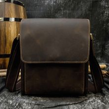 MAHEU Top Quality Fashion Leather Shoulder Bags Men Male Cro
