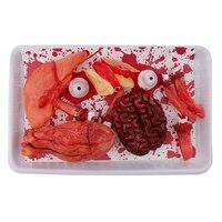 Кровавые части тела орган комбо ланч бокс-дом с привидениями Хэллоуин украшения