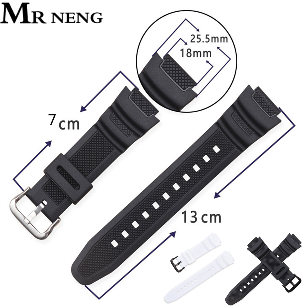 New Silicone Strap For Casio AE-1000w AQ-S810W SGW-400H / SGW-300H Rubber Watchband Pin Buckle Strap Watch Wrist Bracelet Black