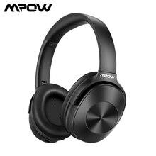 Mpow H12 Bluetooth ANC 헤드폰 능동형 소음 차단 무선 헤드폰 HiFi 사운드가있는 유선 헤드셋 Deep Bass 30H Playtime
