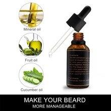 Новинка 30 мл натуральное мужское масло для бороды для укладки пчелиный воск увлажняющее разглаживающее питательное мягкое мужское масло для бороды средства ухода за бородой