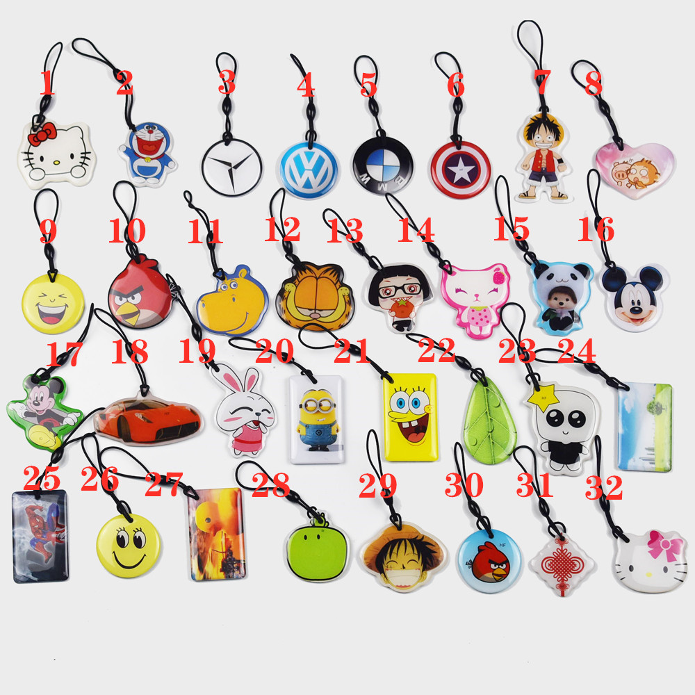 20pcs UID Changeable Card Small Pendant NFC Keychain 13.56MHz ISO14443A Block 0 Writable  1K S50 Chinese Magic Backdoor