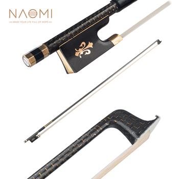 NAOMI Cabon Fiber 4/4 Violin Bow High Quality Bow Hairs Ebnoy Frog Light Weight Proper Balance Orchestral Strings Accessories