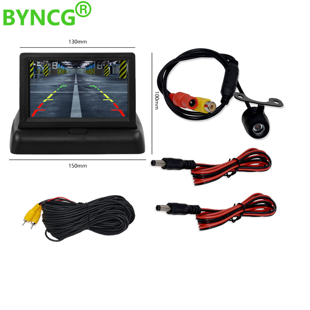 Parking Assistance Rear view Camera with Styling Car Mirror Monitors Foldable Car Accessories Free 3M Sticker for ford focus 2