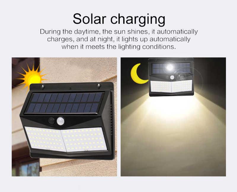 108LED dreieck Veranda Lichter solar outdoor anti-menschlichen induktion hof wand lichter garten wand lampe