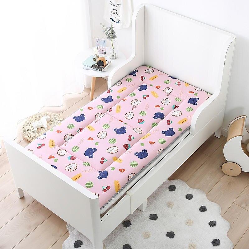 Crib Mattress Pad Toddler Bed Set Boys Room Girls Cartoon Bed Linen 100% Cotton 140x70cm Sleeping Baby Bedding Set 140x70cm