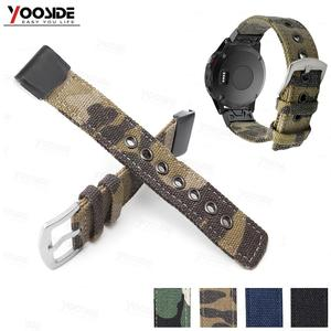 Image 1 - Fenix 6 22mm 26mm  Wristband Retro Nylon Nato Quick Fit Watch Band Strap for Garmin Fenix 5 Plus//935/Approach S60/Fenix 5X Plus