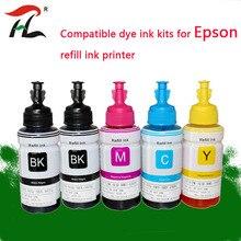 5PK Dye Inkt Voor Epson L120 L132 L222 L310 L364 L380 L382 L486 L566 L800 L805 L1300 ET 2650 Printer T664 refill Dye Inkt Voor Epson