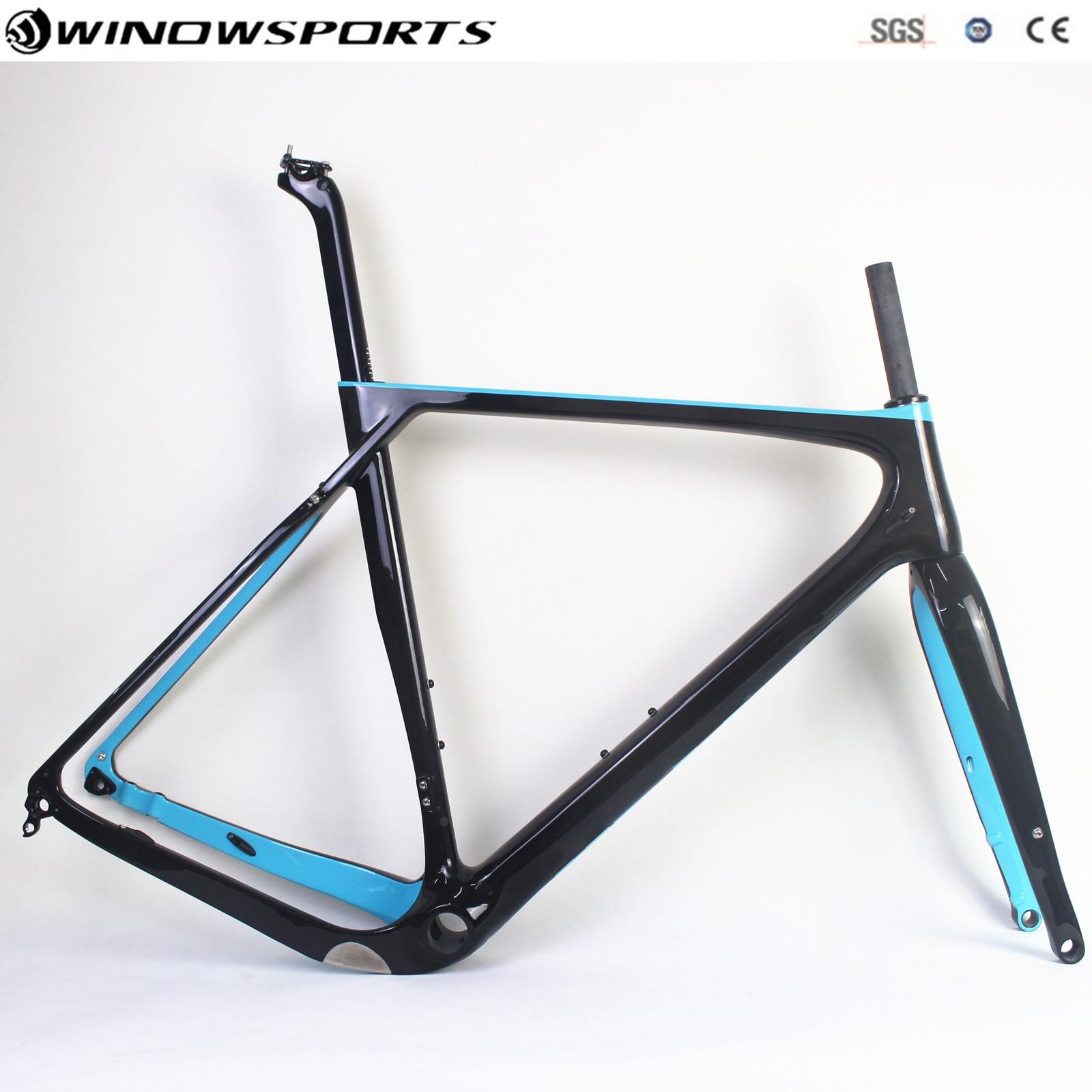 Full Carbon Road Cyclocross Gravel Bike Frameset Support  27.5er MTB Wheelset Max Tires 650B*2.1 142*12mm Thru Axle Disc Gravel