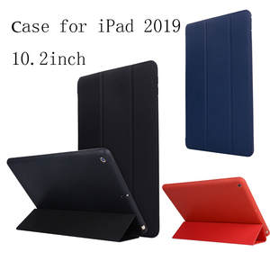 best selling 2019 products Leather Slim Folding Stand Painted Case Cover For iPad 10.2Inch