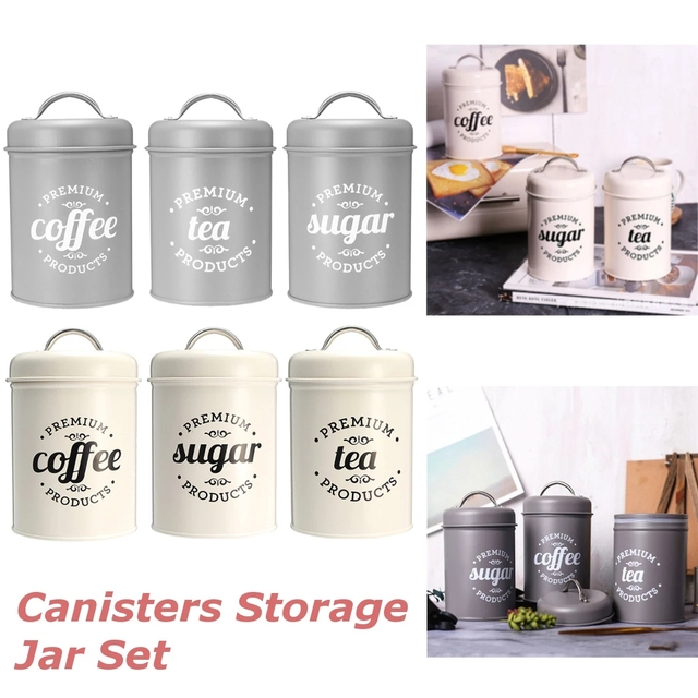 1-3 portable storage cans, multifunctional tea cans, coffee cans, home decoration containers, sugar cans, kitchen storage cans