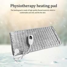 Almofada de aquecimento fisioterapia cobertor elétrico alívio rápido dor relaxar temperatura muscular escurecimento úmido seco terapia calor pescoço abdômen