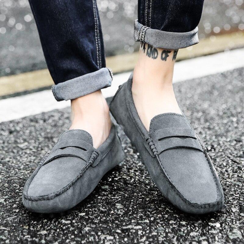 Мужские зимние теплые тапочки с меховой подкладкой повседневная обувь без шнуровки однотонная мужская обувь для вождения отдыха большие