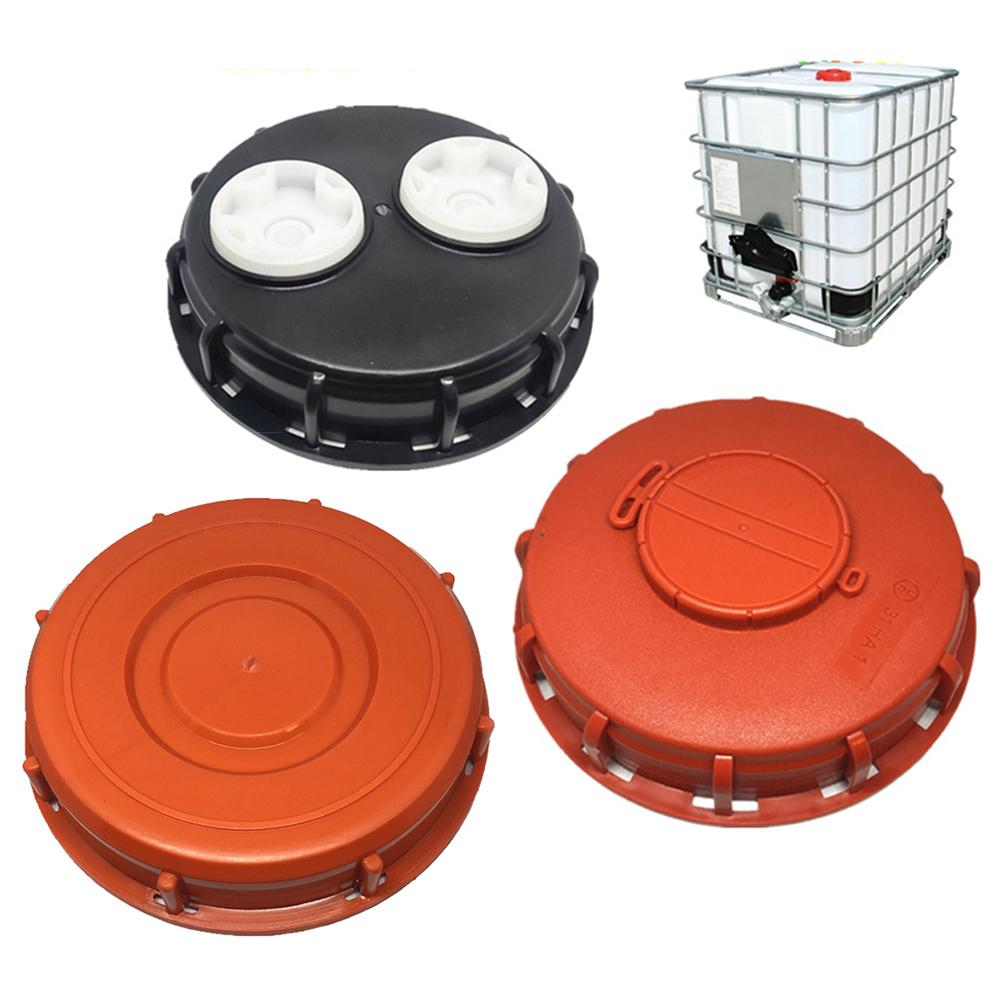 IBC Ton Barrel Cover Cap 16.3CM With Gasket With Venting Ton Barrel Plastic Cover Double Hole Tote Tank Lid Breath Cover Fitting