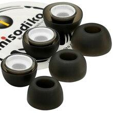 Misodiko קומפי רך סיליקון אוזניות אוזן טיפים עבור אפל AirPods אוויר תרמילי פרו, החלפת אוזניות Eartips (שקוף שחור)
