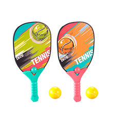Kids Tennis Racket With Balls Safe Outdoor Beach Play Tennis Racket Set Playing Toy Beginner Practice Training Sport Game Toys