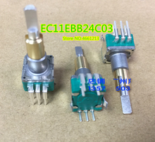 5 ピース/ロットデュアルEC11EBB24C03 デュアルエンコーダスイッチ 30 、ポジショニング番号 15 、パルスポイントハンドル 25 ミリメートル
