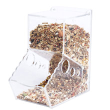 Acrylic Hamster Food Feeder Automatic Dispenser Bin For Small Pets L99