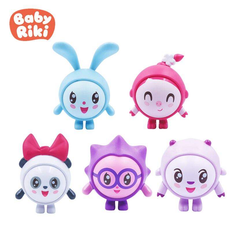 5 pièces/ensemble Original bébé Riki peau chiffres à collectionner sûr doux Action modèle poupée jouet Compatible avec toboggan Playsets jouet enfant cadeau