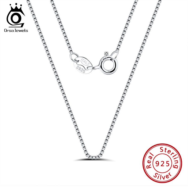 Box 015 Italian Chain Necklaces Sterling Silver 925 Best Price Jewelry 16inches