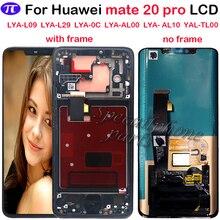 Süper AMOLED Huawei Mate 20 Pro LCD ekran dokunmatik ekran Digitizer meclisi onarım Mate 20 pro LCD çerçeve ile ile fingerpri