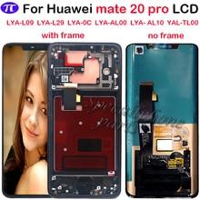 Super AMOLED dla Huawei Mate 20 Pro wyświetlacz LCD ekran dotykowy Digitizer montaż naprawa Mate 20 pro LCD z ramką z fingerpri