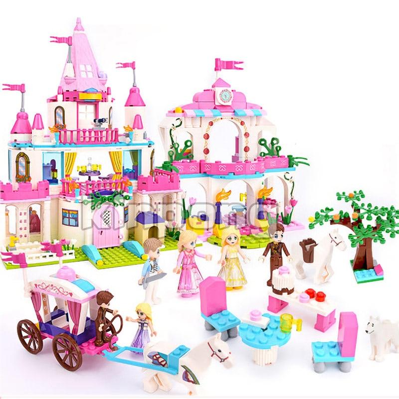Elsa Ice Castle Princess Anna Ariel The Little Mermaid Of Building Blocks For Girl Compatible Legoinglys Friends Kids Model Toys