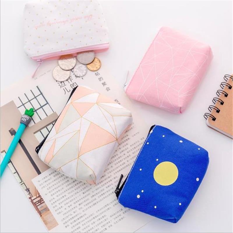 Monedero de lona, bolsa de almacenamiento creativa con tecla de mano, para llaves, versión coreana, 2020