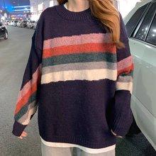 Женский свитер 2020 Свободный пуловер в Корейском стиле для