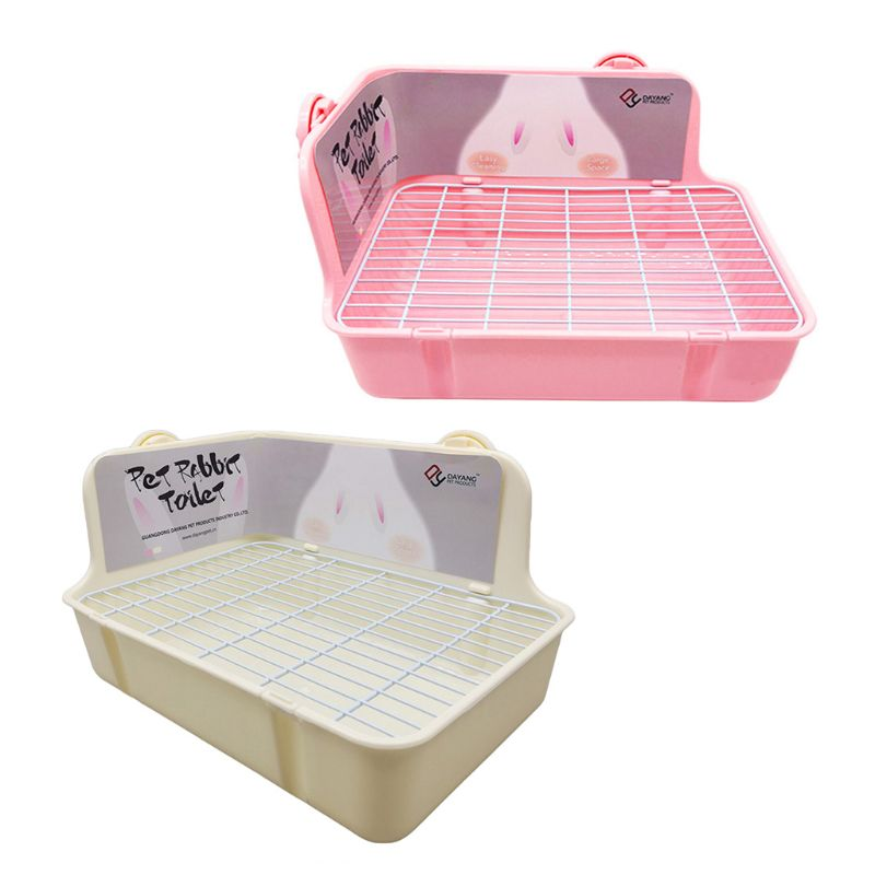 Pet Hamster Cat Rabbit Toilet Litter Corner Trays  Indoor Clean For Small Pets