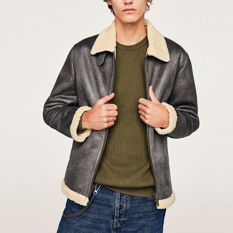 EWQ/2019 Новая модная осенне зимняя короткая бархатная куртка для мужчин свободного покроя с лацканами в японском стиле Chaqueta Hombre 9A164 - 3