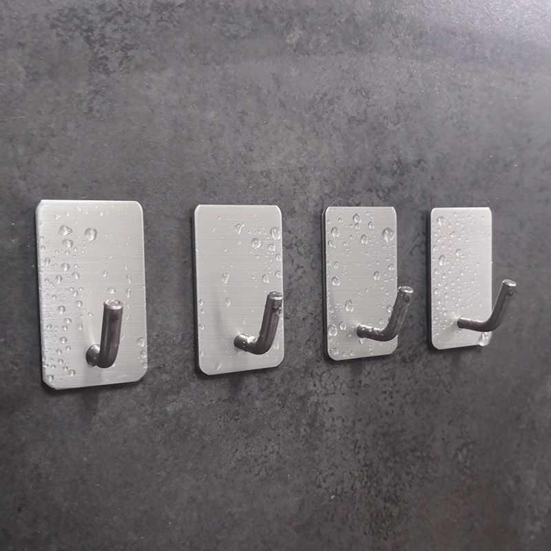 Paslanmaz çelik duvar kanca kendinden yapışkanlı yapışkan mutfak ev banyo anahtar çantası askı depolama asılı tutucu su geçirmez havlu askısı