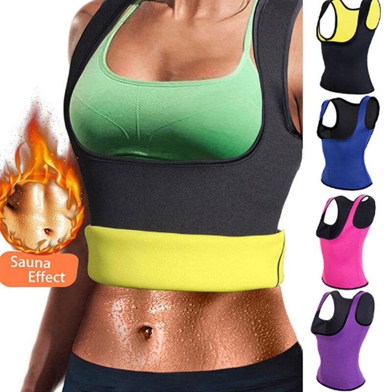 Waist Trainer Corset Vest For Weight Loss Womens Body Shaper Sauna Slimming Sweat Tank Top