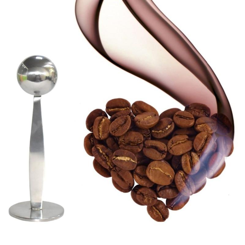 Household Multifunction 2 In 1 Coffee Powder Press Spoon Stainless Steel Measuring Spoon Coffee Measure Tamper Spoons