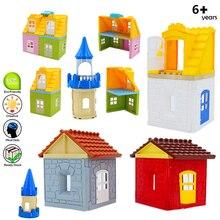Конструктор детский из крупных частиц, Детский конструктор на крышу, стену, дверь, окно, аксессуары для сборки дома, совместим с фирменными к...