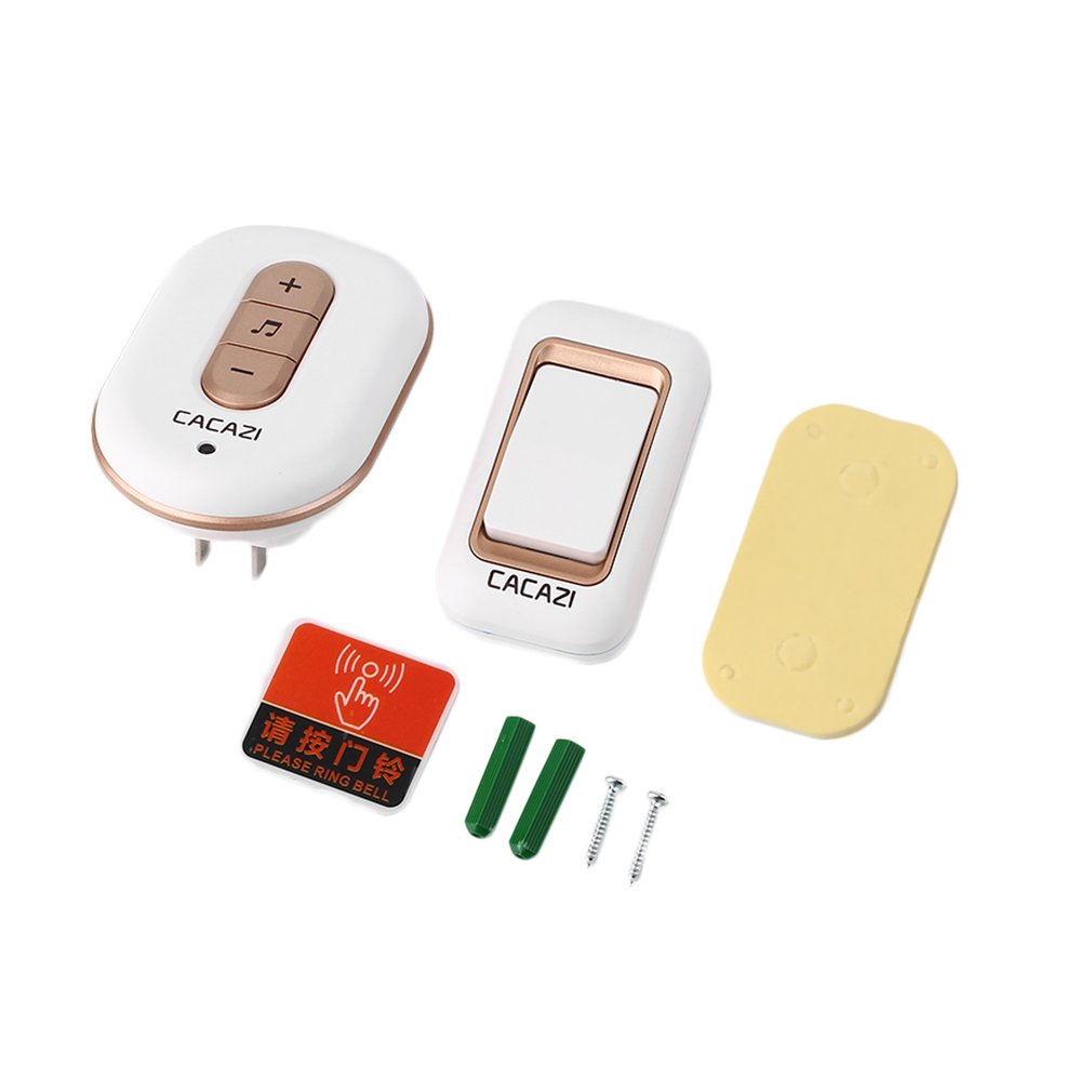 Wireless Doorbell 300M Remote Control AC Door Ring Waterproof Button Elderly Pager Transmitter Receiver Plug In