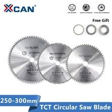 XCAN hoja de sierra de corte de madera 250/255/300mm, disco de sierra Circular 28/40/60/80 dientes, cuchillas multiherramienta TCT, hoja de sierra con punta de carburo